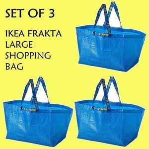 Large Reusable Shopping Bag IKEA Frakta - Set of 3